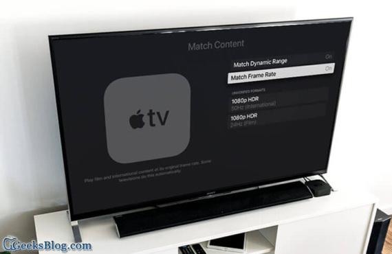 Comment activer la commutation automatique de la fréquence d'images et de la plage dynamique sur l'Apple TV 4K ?